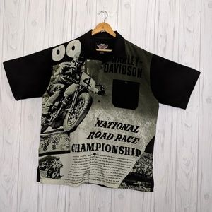 Harley Davidson National Road Race Button Up Shirt